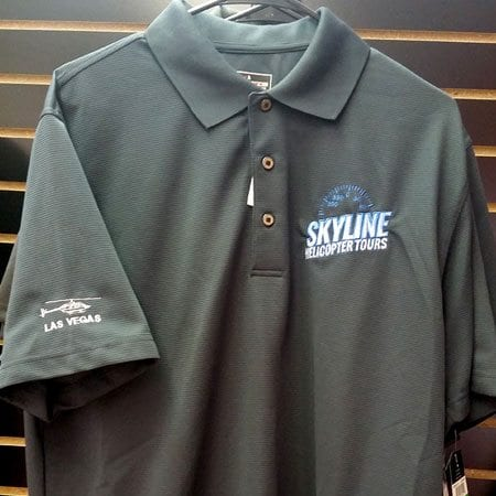 Men 39 S Polo Shirt Grey Skyline Helicopter Tours